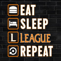 Tee Shirt Eat Sleep League