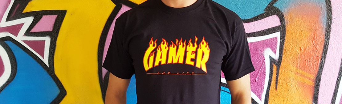 Tshirt Askew Gaming Gamer